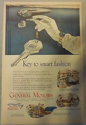General Motors Production Ad from 1949 Newspaper Magazine