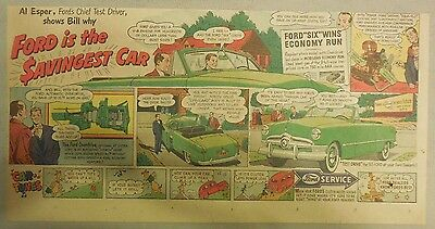 """Ford  Ad:""""Ford is the Savingest Car""""  from 1950"""