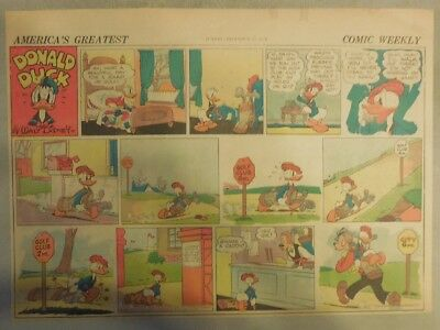 Donald Duck Sunday Page by Walt Disney from 12/27/1942 Half Page Size