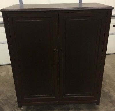 Antique Furniture Armoire 1930-1940's 6 Drawers & Wardrobe Space Beautiful