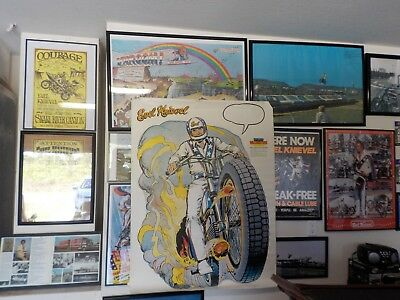Evel Knievel 40X50 Wall Buster Poster 1977 Kneivel Knieval Knievel Kenevil Obo