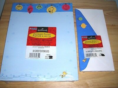 new vintage snoopy christmas stationery peanuts letters