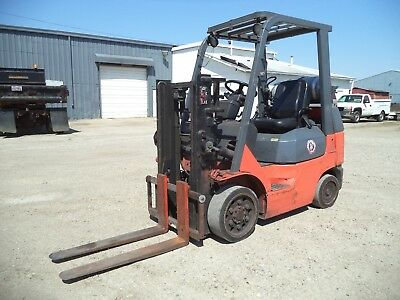 2005 - 07 Toyota 7FGCU25, 5,000#, 5000# Cushion Tired Forklift, Trucker Special