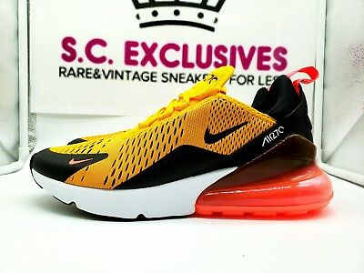 Air Max 270, Black/University Gold-Hot Punch, AH8050 004, Size 10