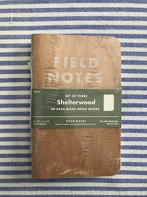 Field Notes Shelterwood Sealed Three Pack FNC-22