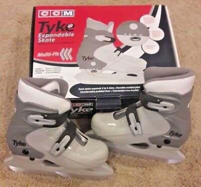 NEW CCM Tyke Expandable Ice Skates NIB 12 13 1 Youth Junior Medium Hockey Adjust