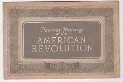 1926 Washington Dc Bicentennial Famous Paintings American Revolution ~ Booklet