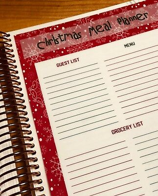 Christmas Holiday Meal Planner for use with the Erin Condren Life Planner