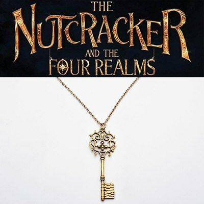 US The NUTCRACKER and the Four Realms Key Pendant Necklace Clara Cosplay