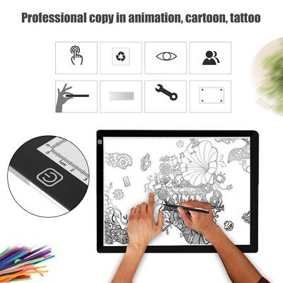 A3 LED Light Box Tracing Board Art Design Stencil Drawing Pad Copy Lightbox MN
