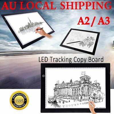 A2 A3 LED Slim Art Craft Drawing Tracing Tattoo Light Box Pad Board Lightbox IN