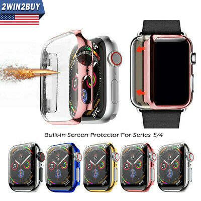 For Apple Watch Series 4 40 44mm Full Body Cover Snap-on Case W Screen Protector