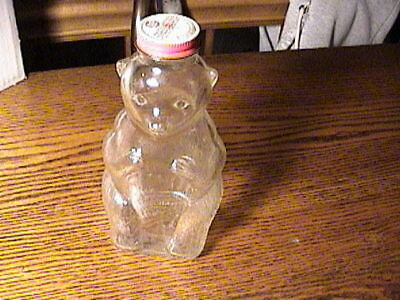 Vintage Glass Bear Bank - Snow Crest Beverages, Inc., Salem, Mass.