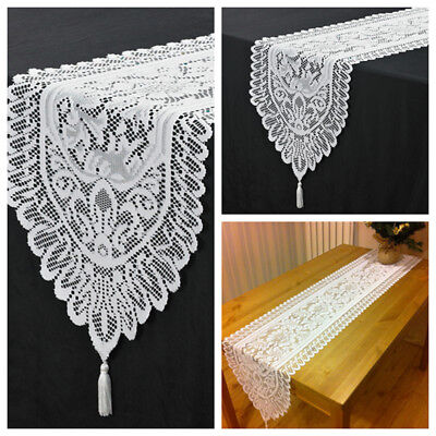 Christmas Table Runner Uk.13 X71 White Christmas Table Runner Vintage Lace Table Decoration Home Party Uk