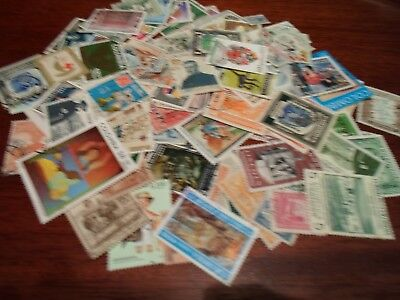 Collection lot 100 different stamps of Colombia / Latin America