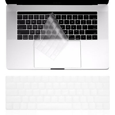 Silicon Keyboard Cover Transparent Clear & Black for Apple Macbook Air/Pro 2018