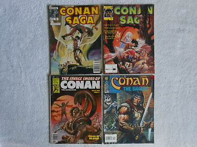 Savage Sword Of Conan Saga The Savage Lot of 4 Marvel VG/VG+