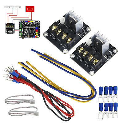 Heat Bed Power Module Mosfet Board Add-on Hot Bed Power Expansion Board Set