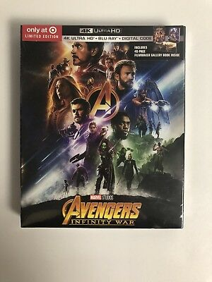 Avengers: Infinity War (4K Ultra HD/Blu-ray/Digital) TARGET EXCLUSIVE! BRAND NEW