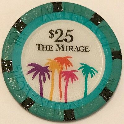 $25 Mirage Casino Chip - Las Vegas - Poker, Blackjack, Roulette - Vintage -RARE