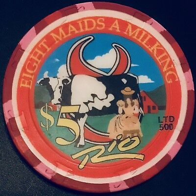 $5 Rio Casino Chip - Las Vegas - Season Greetings - Poker - RARE - LTD 500!