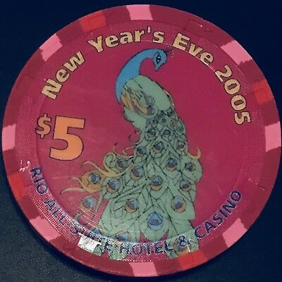 $5 Rio Casino Chip - Las Vegas - New Year's Eve 2005 - Poker - RARE - LTD 500!