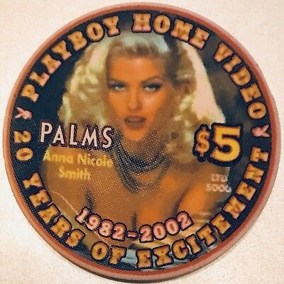 $5 Palms Casino Chip - Las Vegas - Anna Nicole Smith - Playboy - Poker - RARE