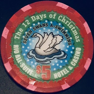$5 Rio Casino Chip - Las Vegas - 12 Days Of Christmas - Poker - RARE - LTD 500!