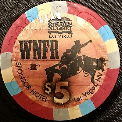 $5 Golden Nugget Casino Chip - WNFR Rodeo - Poker, Blackjack - Las Vegas -RARE