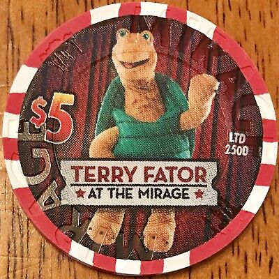 $5 Mirage Casino Chip - Terry Fator - Poker, Blackjack, Roulette Las Vegas -RARE