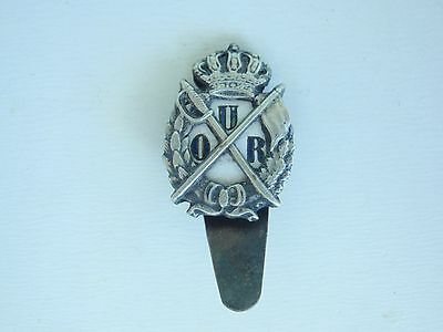 Romania Kingdom Officer's Our Military Badge Medal #1315. Rare!