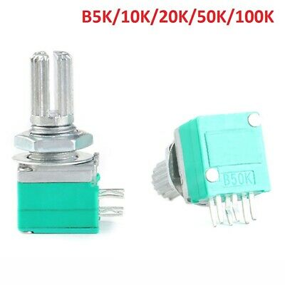 RK097G Linear Stereo Sealed Potentiometer B5K to 100KΩ 6-Pin For Audio/Amplifier