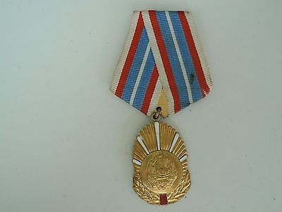 Romania Socialist Medal In The Service To The Motherland 1St Class Rare!. Vf+