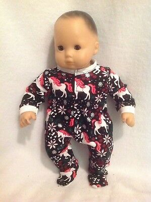 """15"""" Bitty Baby Christmas unicorn sleeper pajamas pjs twins Doll Clothes outfit"""