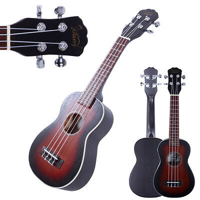 "New 21"" Sapele Mini Soprano Ukulele Uke 4 Strings Hawaiian Guitar Sunset"