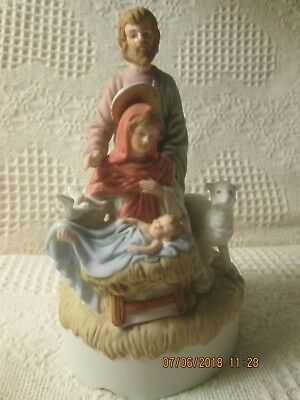 "LEFTON RELIGIOUS MUSIC BOX 1986 BETHLEHEM Col. ""AWAY IN THE MANAGER"" ,CHRISTMAS?"