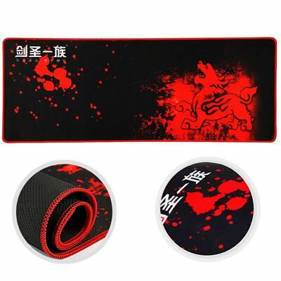 Large Mouse Pad Extended Gaming Mouse Pad XXL Big Size Desk Mat Black & Red SU