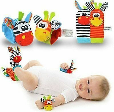 Lamaze Rattle Set Baby Sensory Toys Foot-finder Socks Wrist Rattle Bracelet Gift