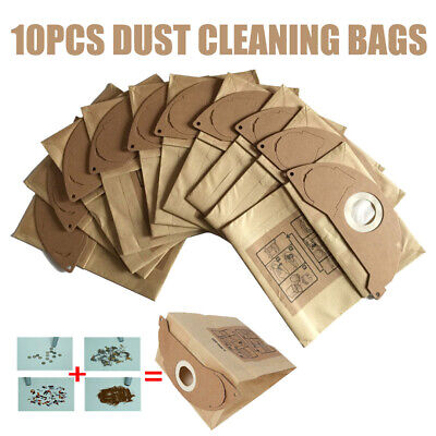 10Pcs Vacuum Cleaner Paper Dust Bag For Karcher WD2.200 WD2250 A2004 A2054