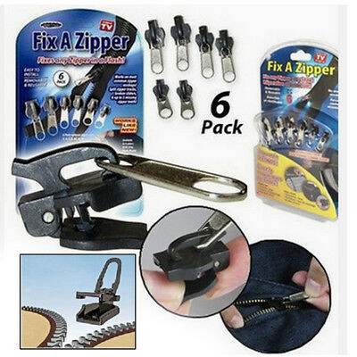 As seen ON TV Rescue Instant Repair Kit Replacement Slider 6Pcs Fix A Zipper Zip