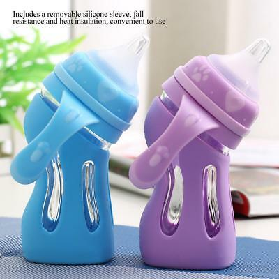 Gift Newborn Baby Bottle Fall Resistant Anti Colic Infant Feeding Silicone Vent