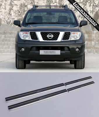 Nissan Navara D40 Double Cab Stainless Sill Protectors / Kick Plates