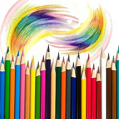 72 Colored Pencils Set Assorted Kit Adult Kid Coloring Assorted Drawing Supplies