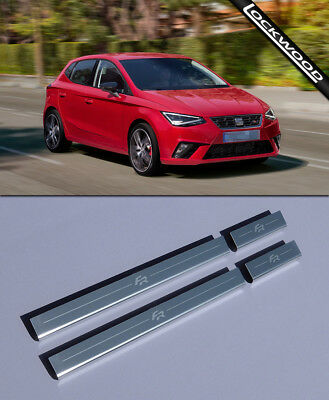Seat Ibiza FR Mk6 4 Door (Released 2017) Stainless Sill Protectors / Kick Plates