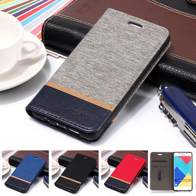 For Samsung Galaxy A5 A7 A3 A8 A6+ J5 J4 J6 Flip Wallet Case Slim Magnetic Cover