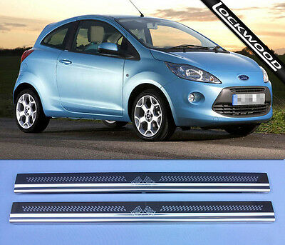 Ford KA MK2 (released approx. 2009) Stainless Sill Protectors / Kick Plates