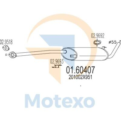 MTS 01.60407 Genuine New Exhaust with 2 year warranty