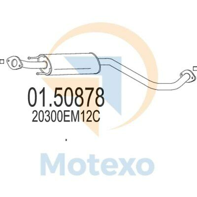 MTS 01.61317 Genuine New Exhaust with 2 year warranty