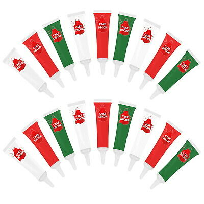 Christmas Writing Icing Tubes Cake Décor  (Pack of 18) (38p each) 19g