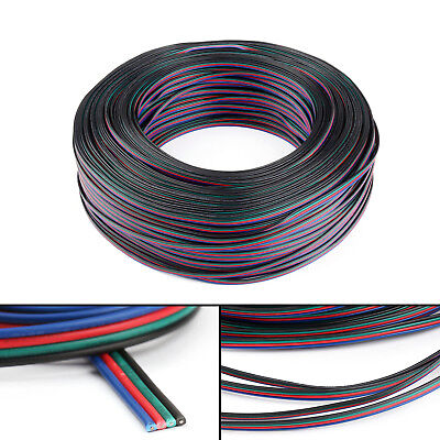 1/5/10M 4 Pin 5050 3528 LED RGB Strip Extension Connector Cable Wire Cord USA